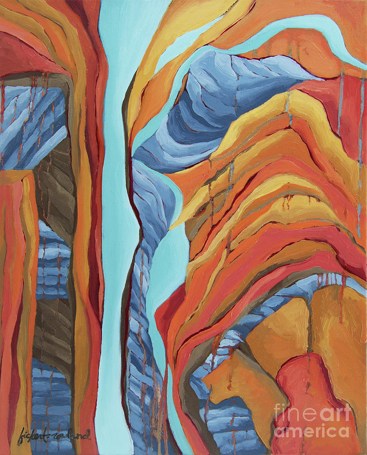 Zion Painting - The Rocks Cried Out, Zion by Erin Fickert-Rowland