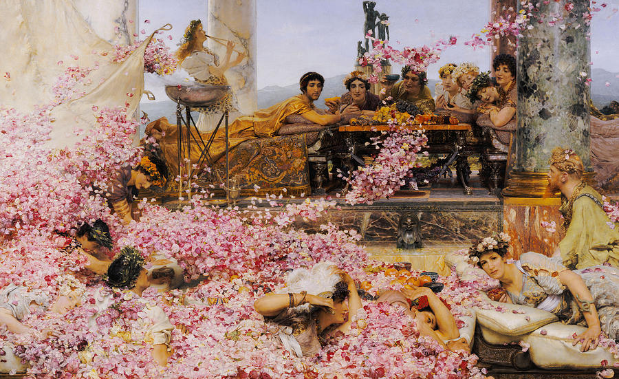 Rose Painting - The Roses Of Heliogabalus by Lawrence Alma-Tadema