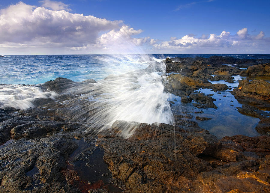 Salt Photograph - The Sea Erupts by Mike  Dawson