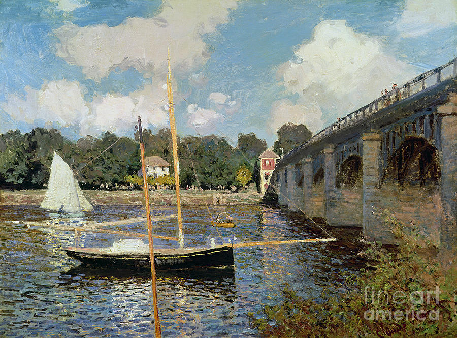 Boat Painting - The Seine At Argenteuil by Claude Monet