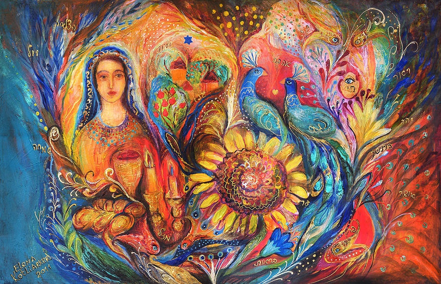 Original Painting - The Shabbat Queen by Elena Kotliarker