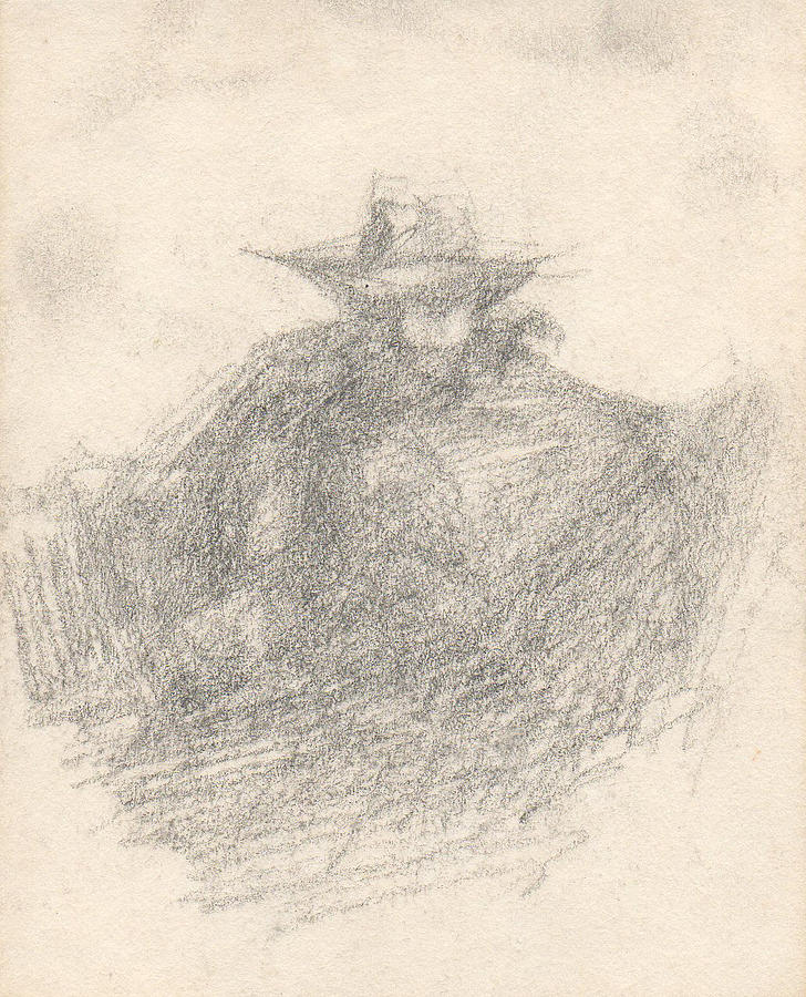 Small Drawing - The Shadow by T Ezell