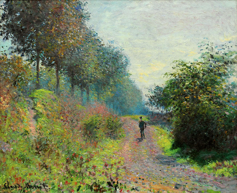 The Sheltered Path Painting by Claude Monet