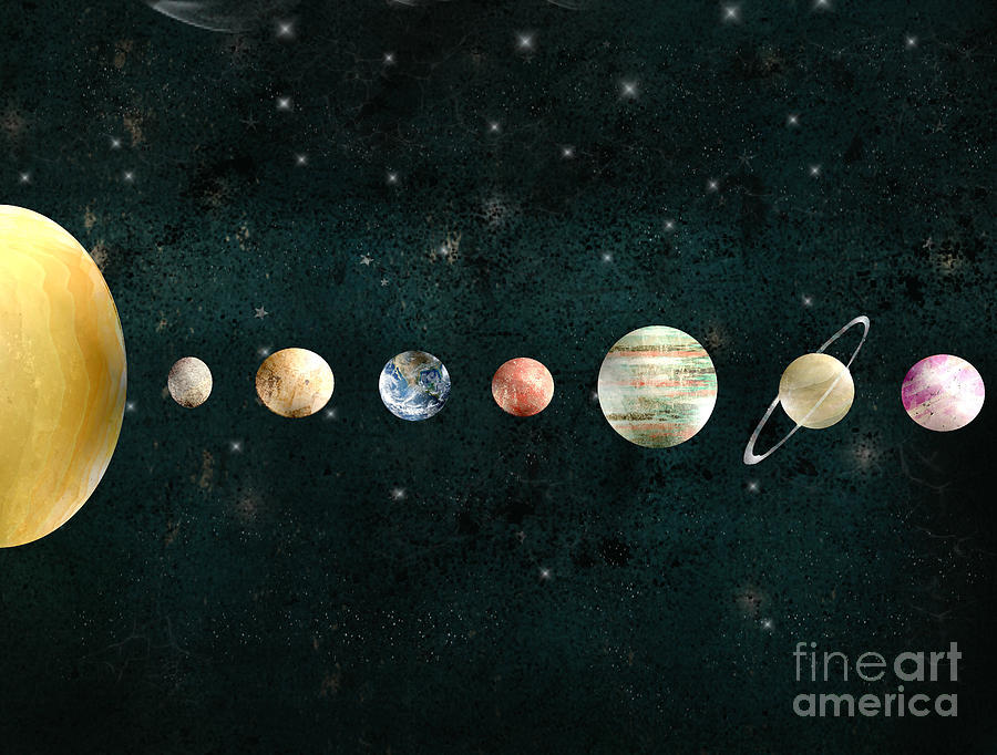 Solar System Painting - The Solar System by Bri Buckley
