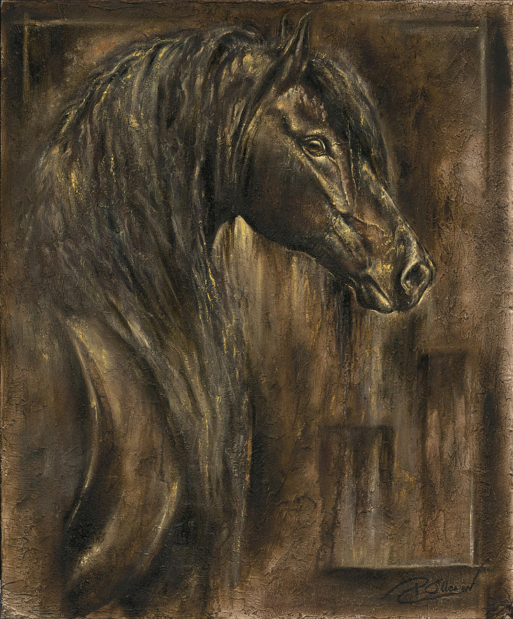 Greeting Cards Painting - The Spirit Of A Horse by Paula Collewijn -  The Art of Horses