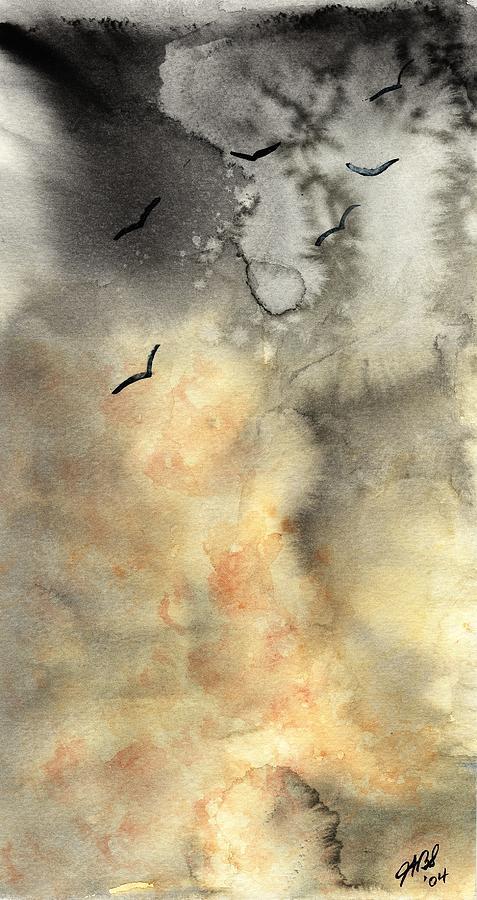 Watercolor Painting - The Storm by Joyce Ann Burton-Sousa