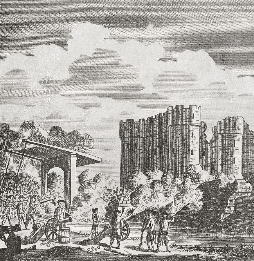 It is a picture of Divine Storming Of The Bastille Drawing
