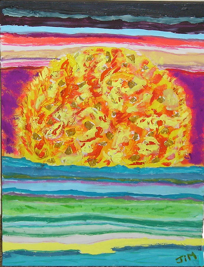 Hot Painting - The Sun Drinks The Ocean And Eats The Sky by James Campbell