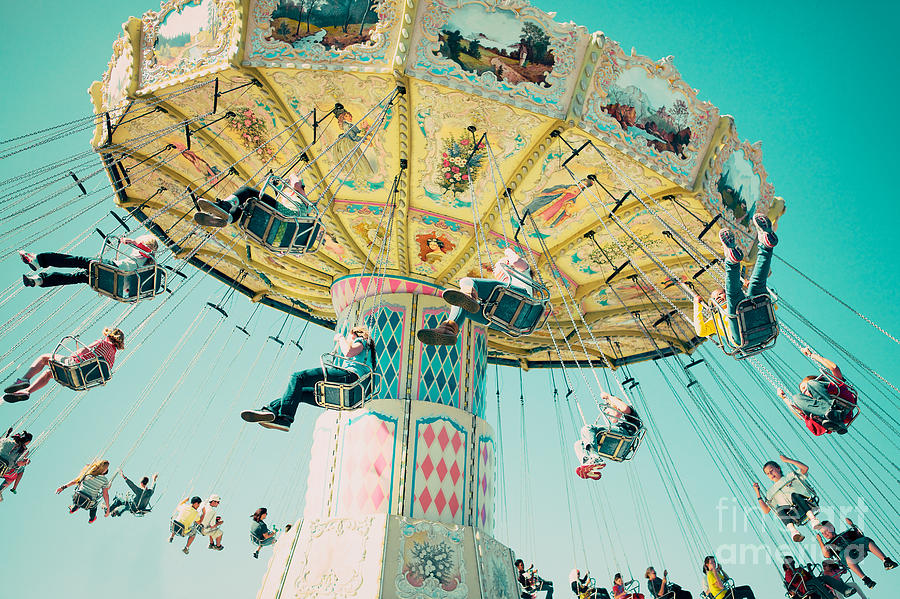 Swings Photograph - The Swings by Kim Fearheiley