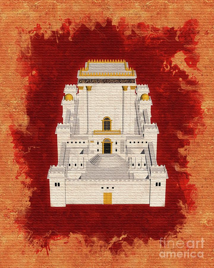 Temple Painting - The Temple Of Solomon 1 by Pierre Blanchard