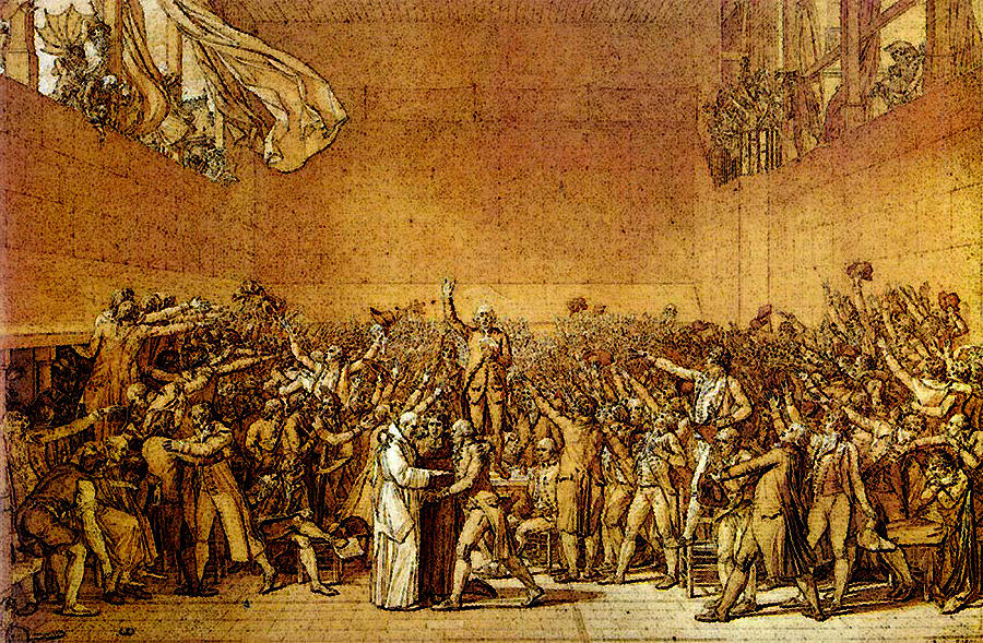an analysis of the tennis court oath by jacques louis david David's oath of the horatii was undoubtedly one of his most famous and prized  oath of the tennis court was commissioned by an unofficial political body known as  jacques-louis david was an extremely skilled and brave french artist.