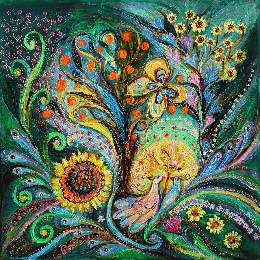 Judaica Store Painting - The Tree Of Desires by Elena Kotliarker