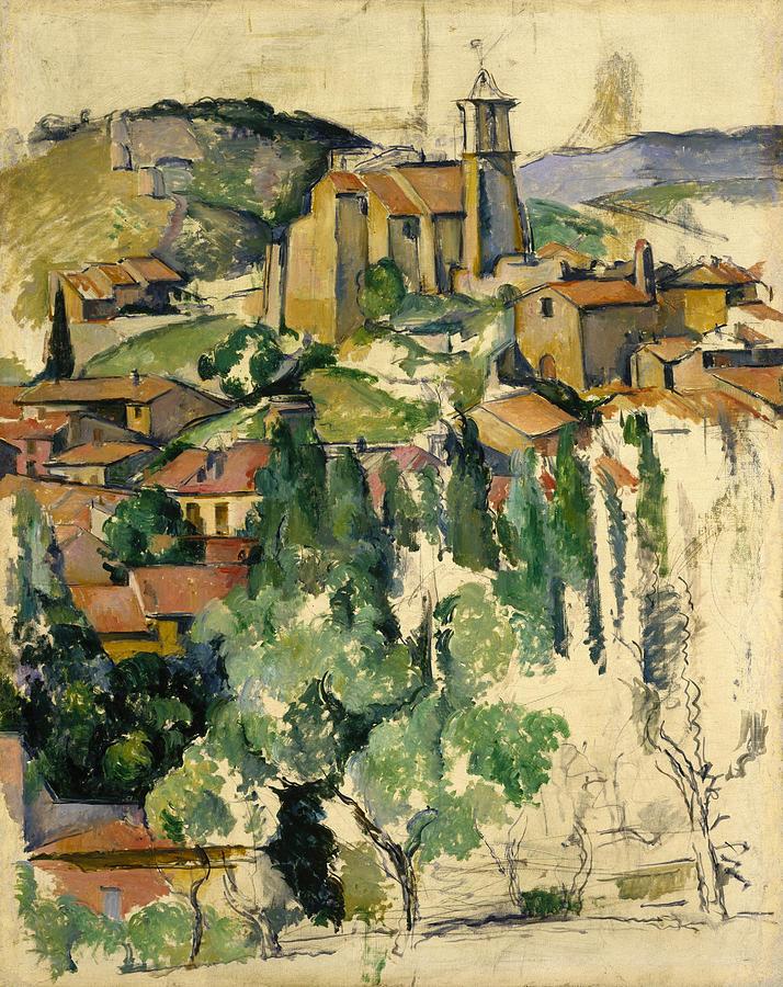 Cezanne Painting - The Village Of Gardanne  by Paul Cezanne