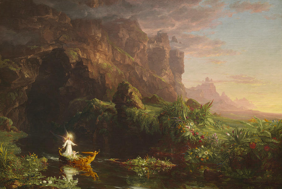 Thomas Cole Painting - The Voyage Of Life, Childhood by Thomas Cole