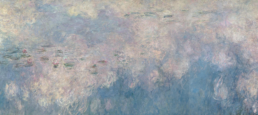 Monet Painting - The Waterlilies  The Clouds by Claude Monet