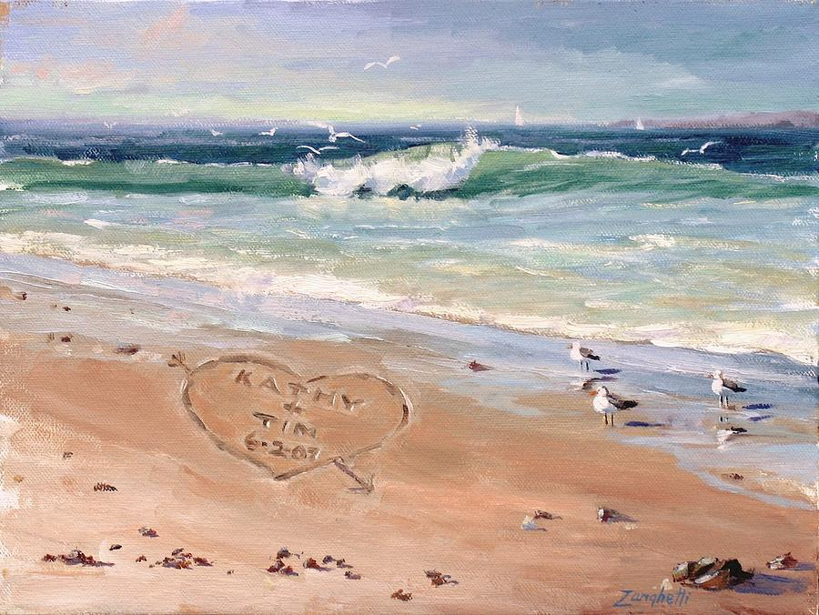 Seascape Painting - The Wedding Gift by Laura Lee Zanghetti