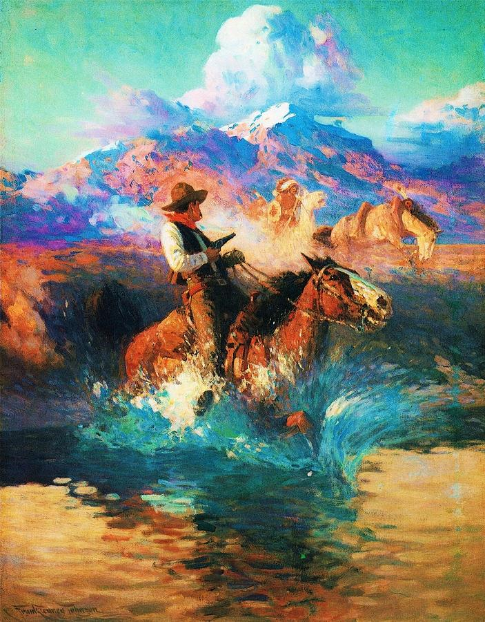 Pd Painting - The Wild West by Pg Reproductions
