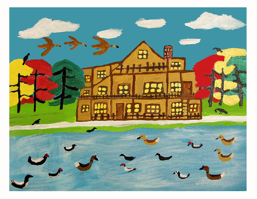 The Wildlife Hotel Painting by Betty  Roberts