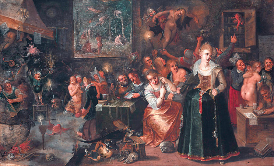 Flemish Painters Painting - The Witches Sabbath 2 by Frans Francken the Younger