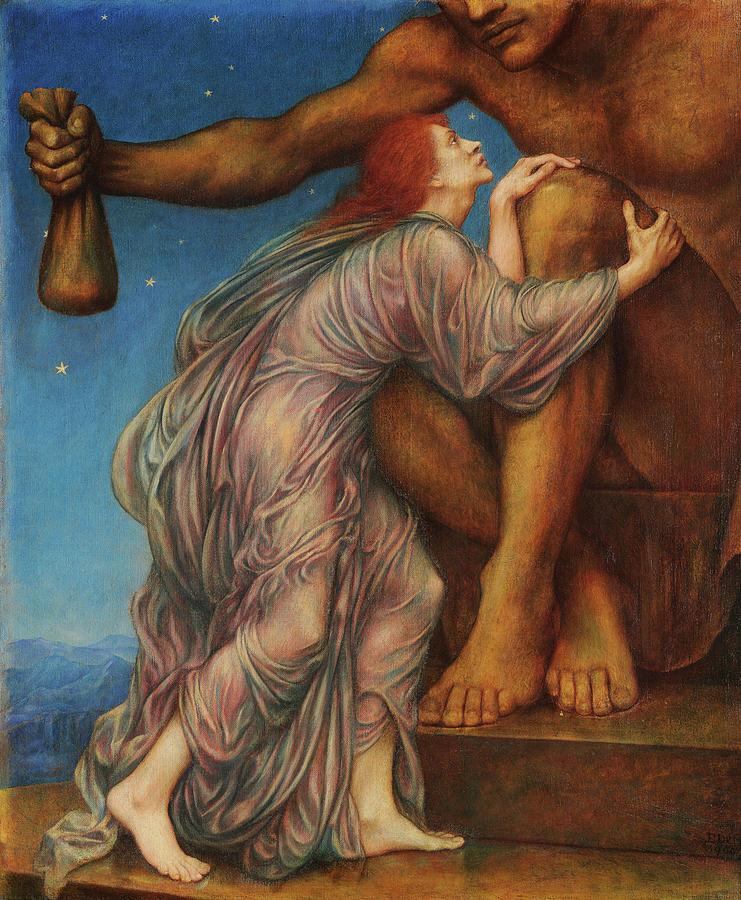 Evelyn De Morgan Painting - The Worship Of Mammon 2 by Evelyn De Morgan