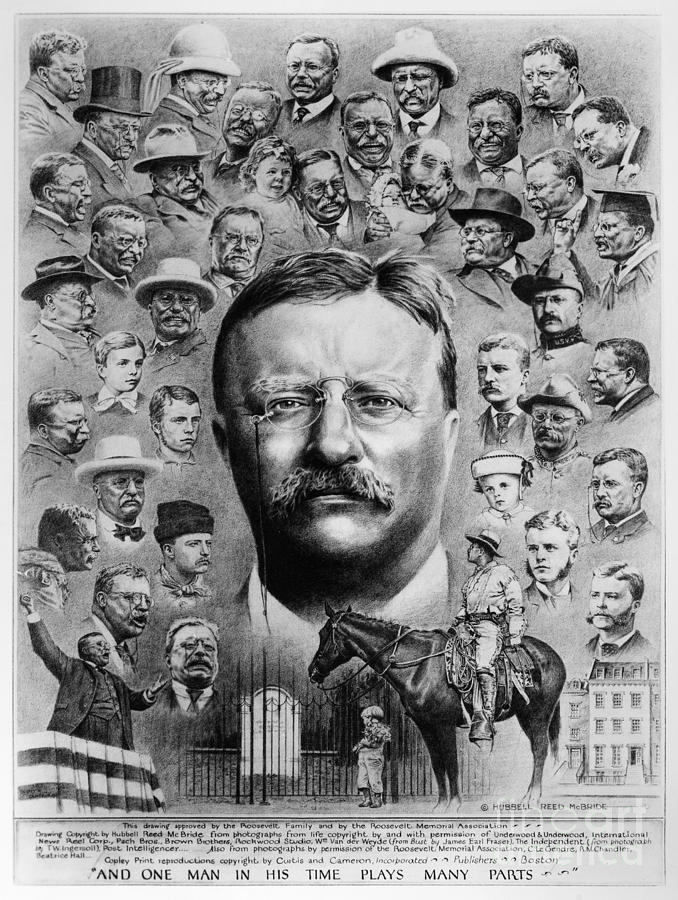1922 Drawing - Theodore Roosevelt by Granger