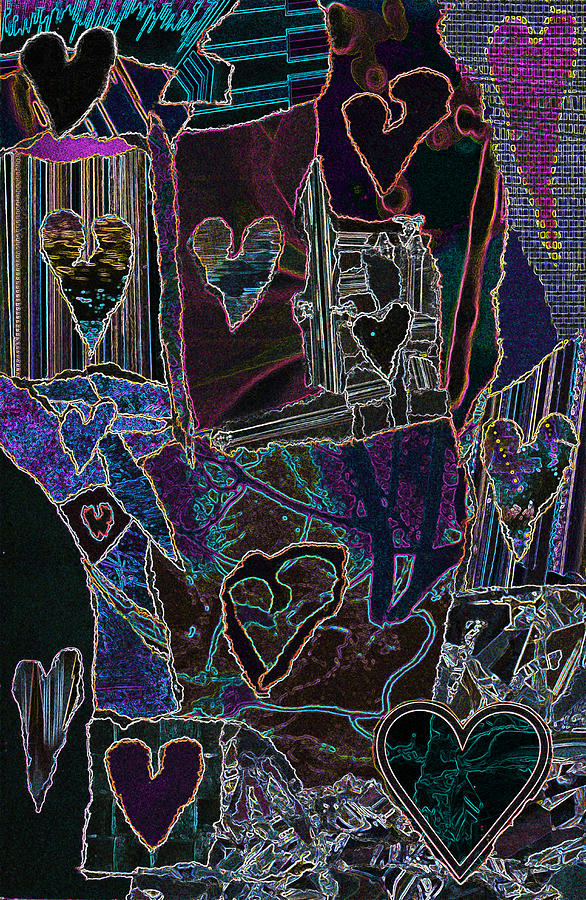 Thought Of Love Mixed Media by Kenneth James