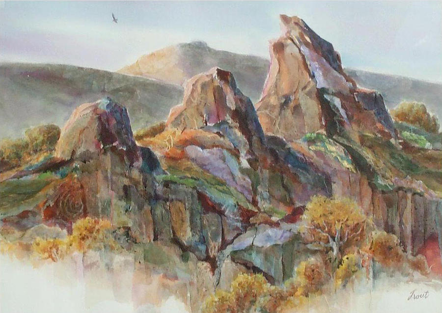 Rock Shapes Painting - Three Sisters by Don Trout