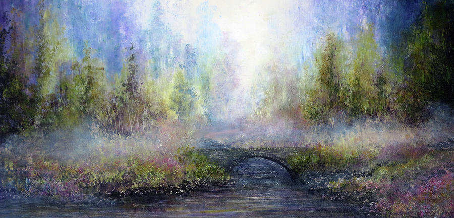 Hand Painted Painting - Through The Mist by Ann Marie Bone