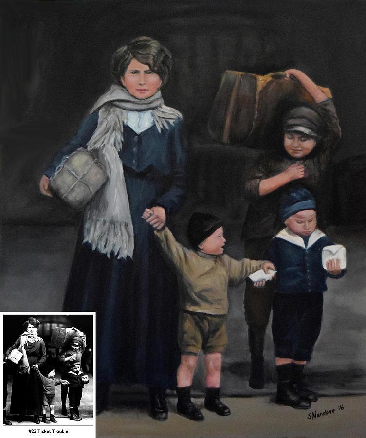 Ticket Trouble on Ellis Island by Sandra Nardone