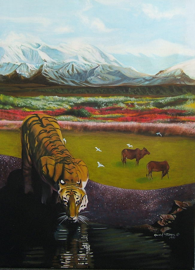 Tiger Painting - Tiger by Howard Stroman
