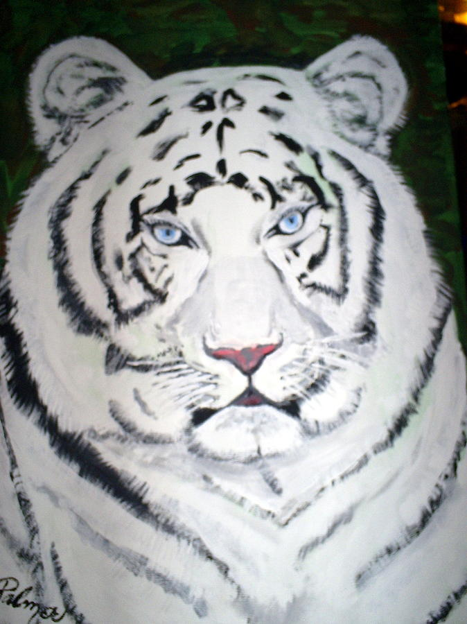 Wild Life Painting - Tiger by Margaret Palmer