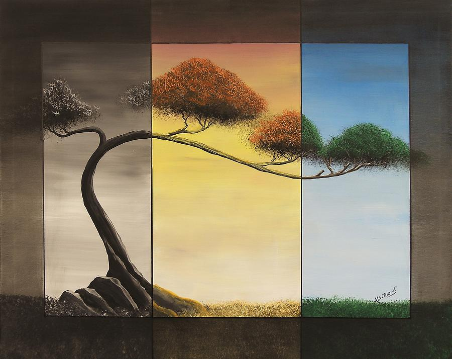 Bonsai Painting - Time After Time by Edwin Alverio