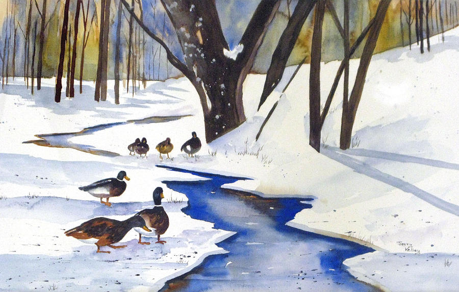 Snow Painting - Time To Go South by Jerry Kelley