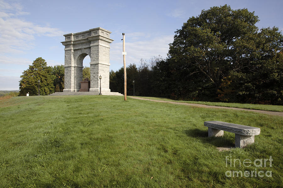 Granite Photograph - Titus Arch Replica - Northfield Nh Usa by Erin Paul Donovan
