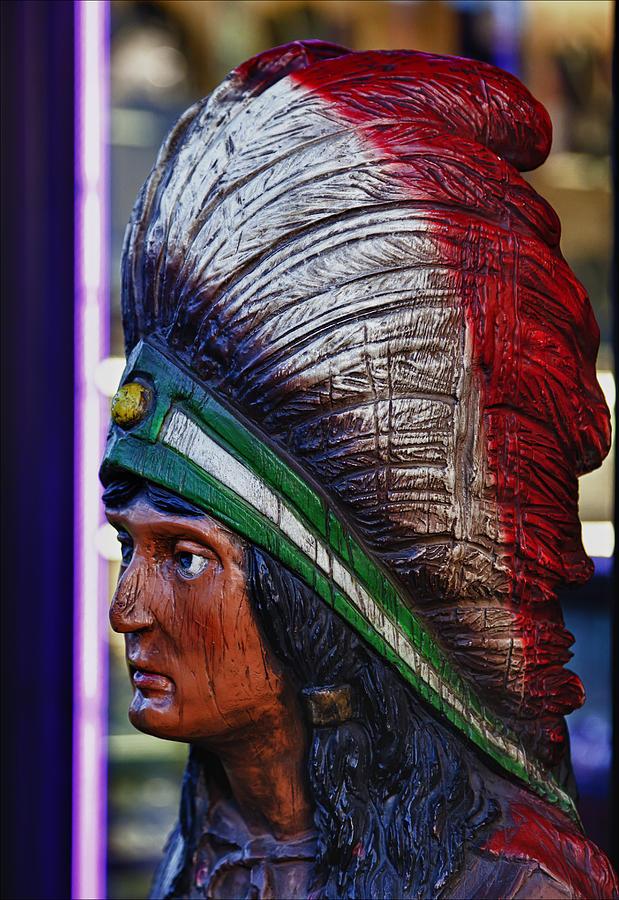 Still Life Photograph - Tobacco Store Indian by Robert Ullmann