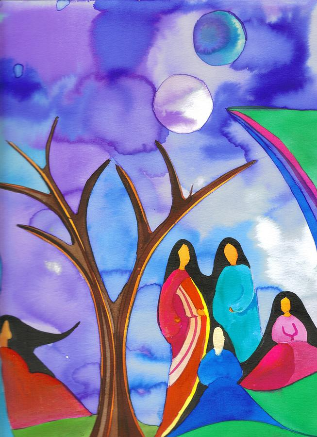 Native American Painting - Together by Jamie Winter