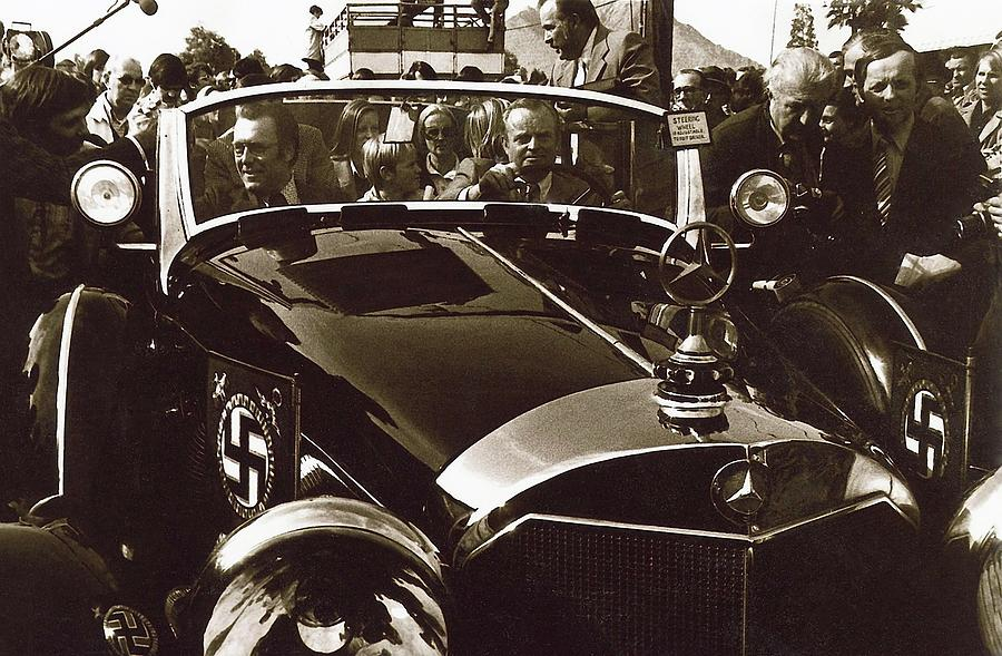 Tom Barrett And Family High Bidder Earl Clark At $153,000 Of Adolf Hitlers Mercedes Benz 770k Photograph by David Lee Guss