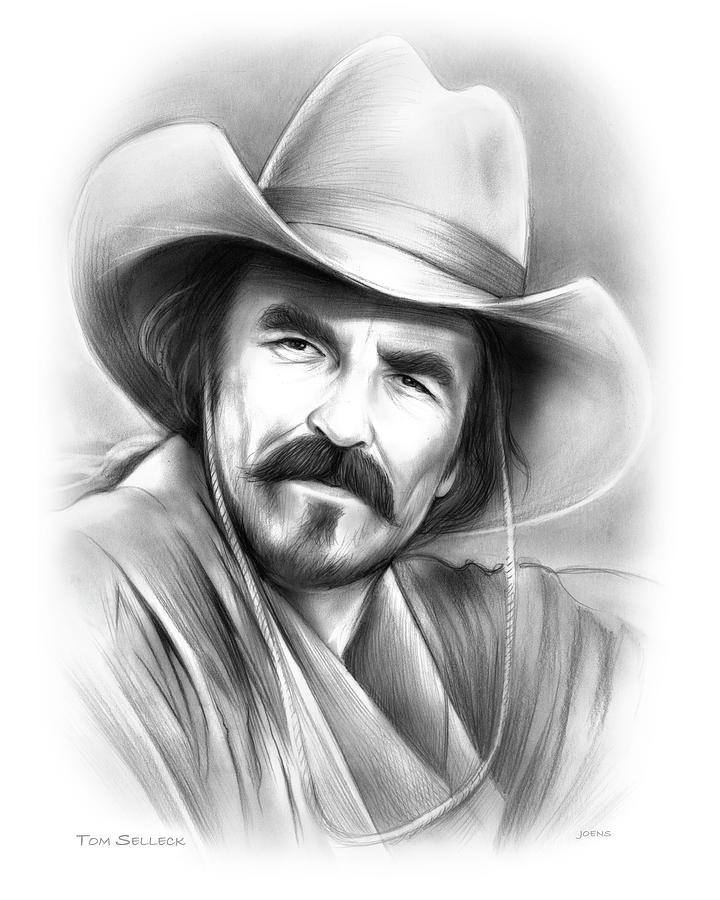 Tom Selleck Drawing - Tom Selleck by Greg Joens