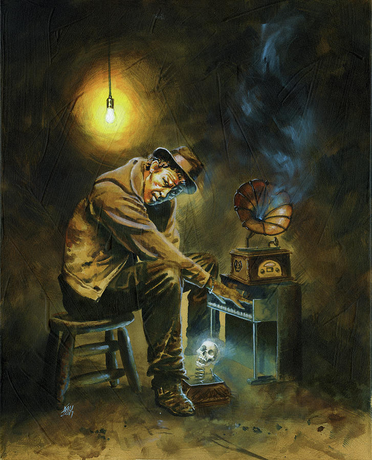 Tom Waits Painting by Ken Meyer