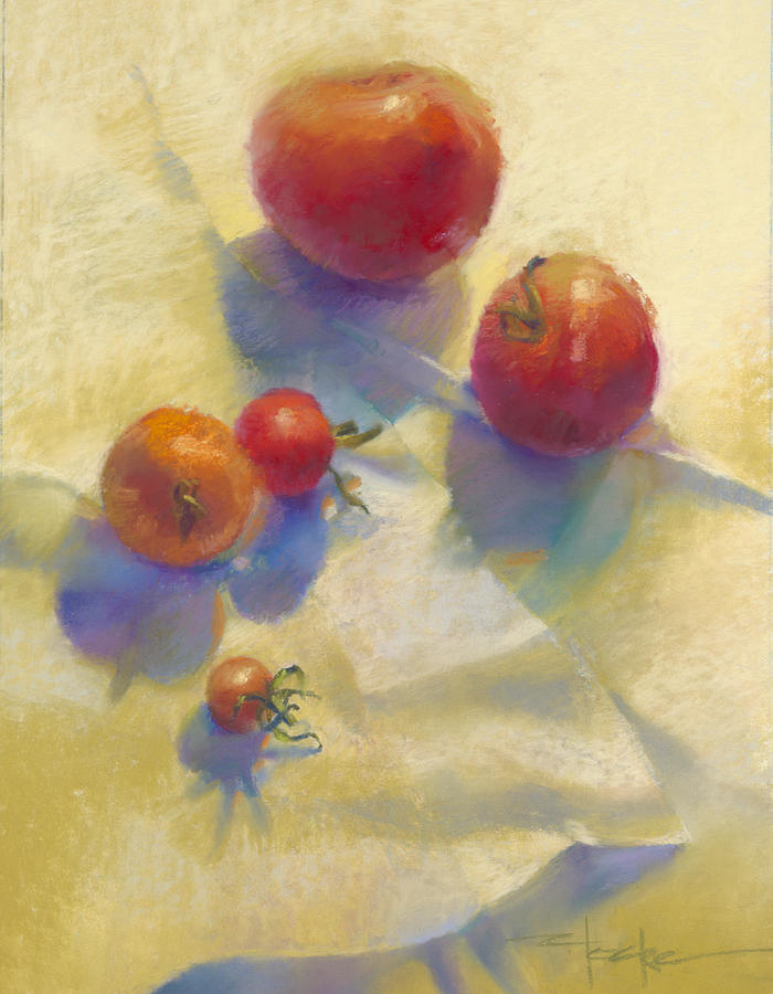 Tomatoes Painting - Tomato Blues by Cathy Locke