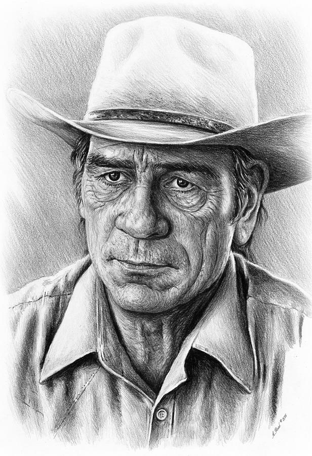 Tommy Lee Jones Drawing - Tommy Lee Jones by Andrew Read