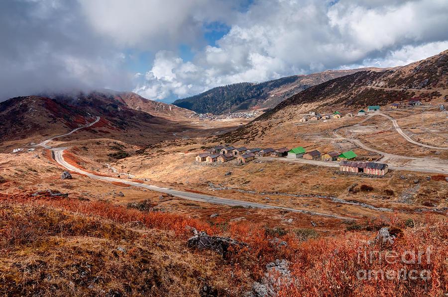Top View Of Kupup Valley Sikkim Himalayan Mountain Range Photograph