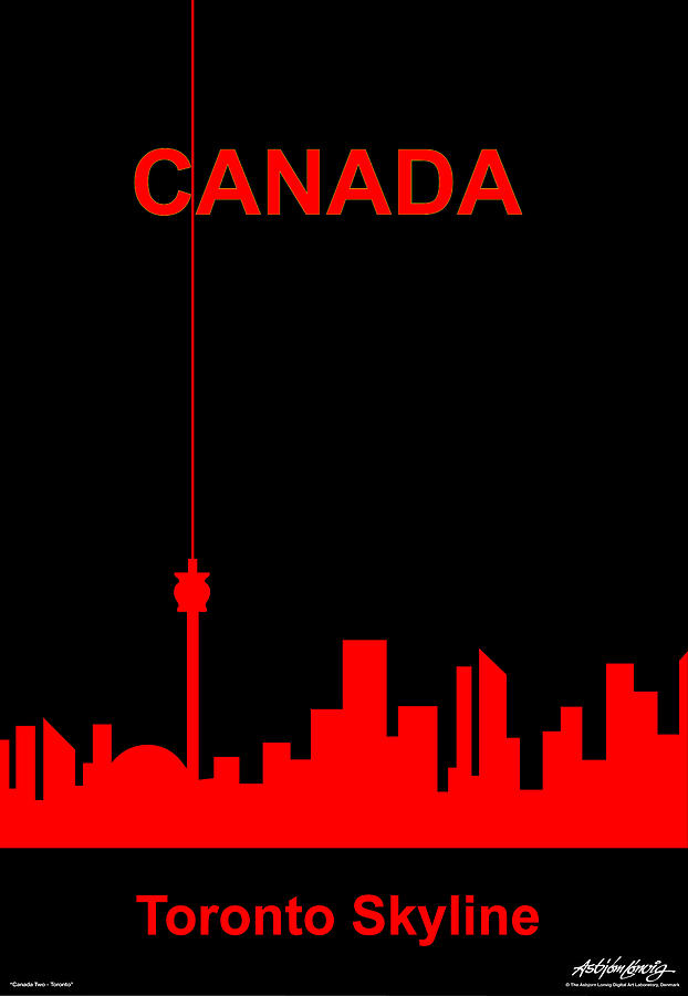 Canada Digital Art - Toronto Skyline by Asbjorn Lonvig