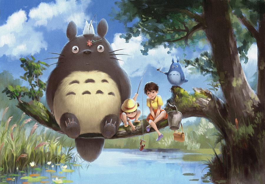 Moving Digital Art - Totoro 1 by Lobito Caulimon