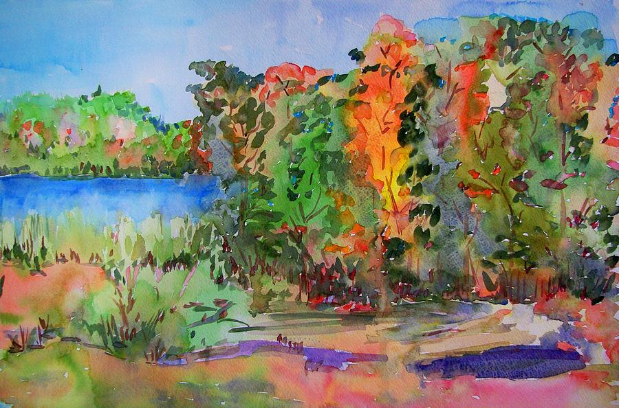 Nature Painting - Touch Of Fall by Liliana Andrei