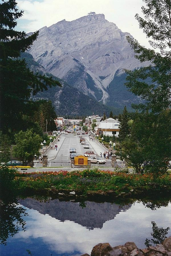 Mountains Photograph - Town Of Banff by Shirley Sirois