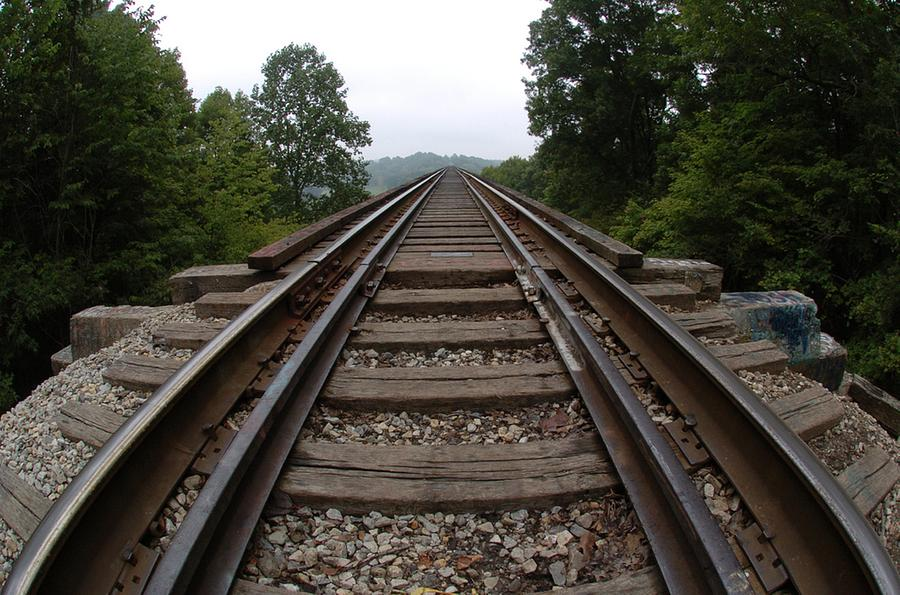 Train Photograph - Tracks  by Jon Benson