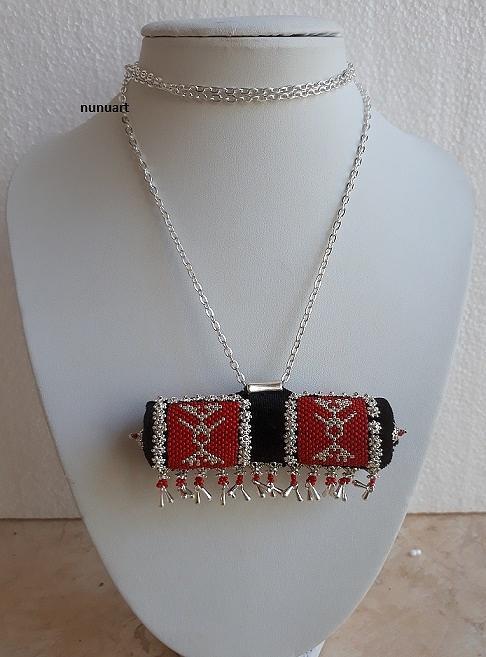 Traditional Yemenite Prayer Boxes Necklace Jewelry by Nurit Tzubery