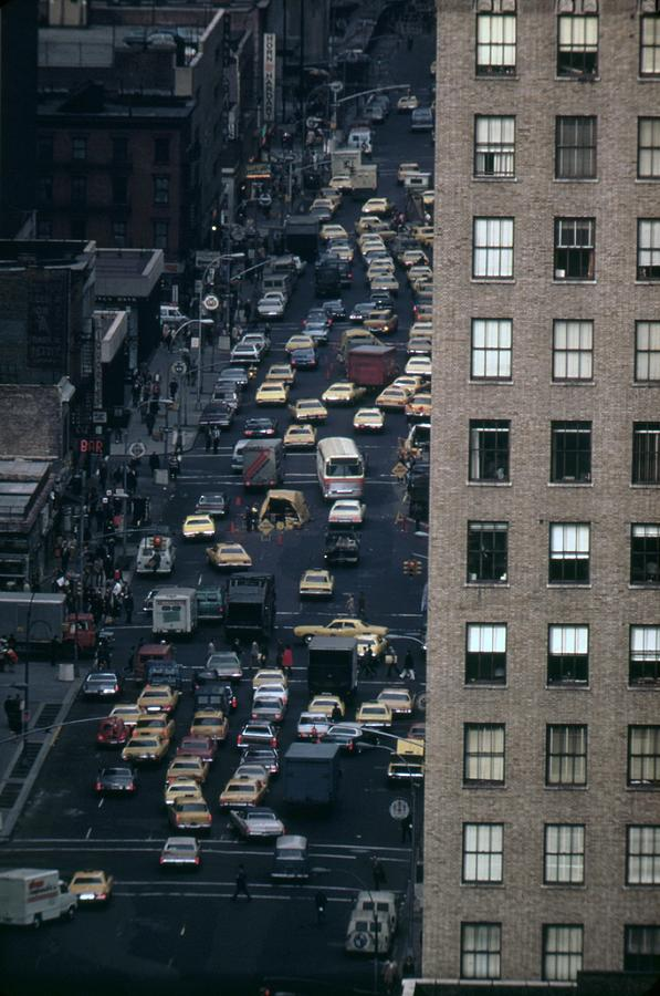 History Photograph - Traffic In New York City. View by Everett