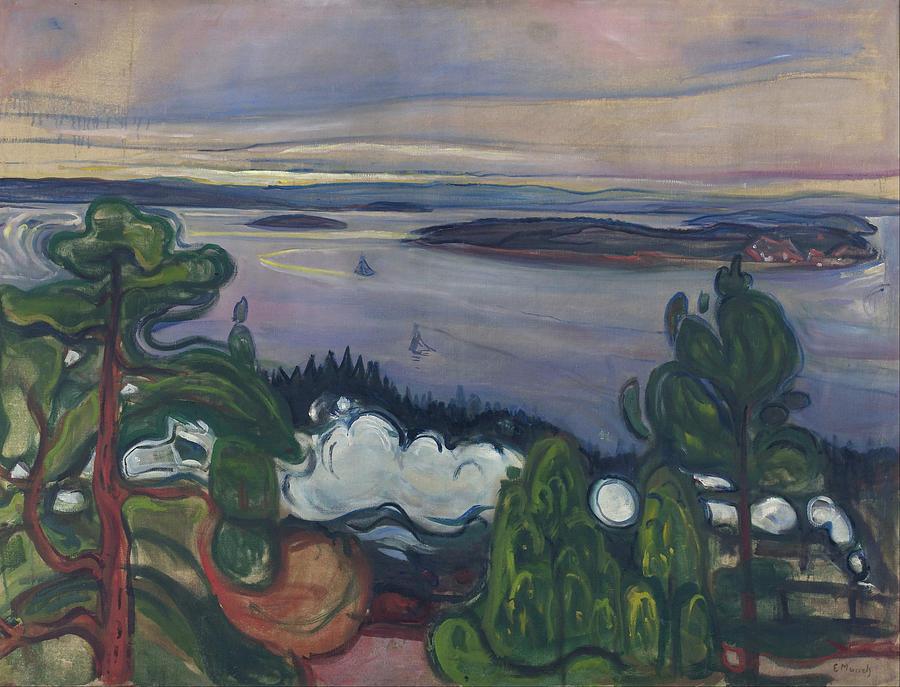 Train Smoke Painting By Edvard Munch